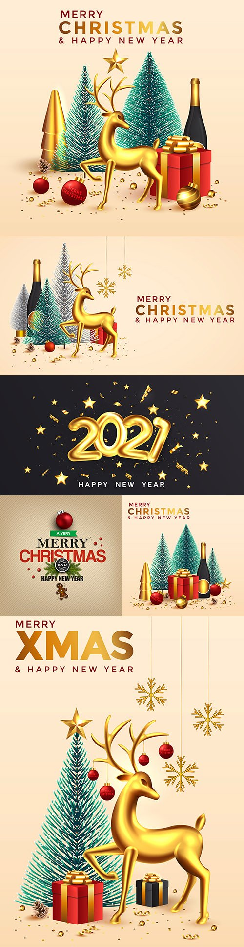 Christmas and New Year background bright composition winter holiday card