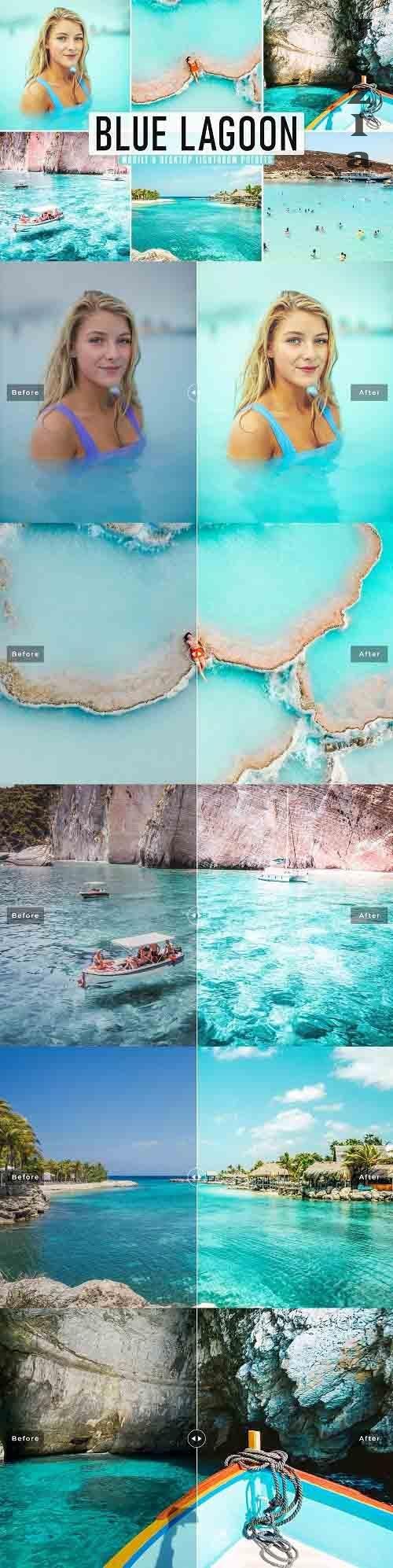Blue Lagoon Pro Lightroom Presets - 5603624 - Mobile & Desktop