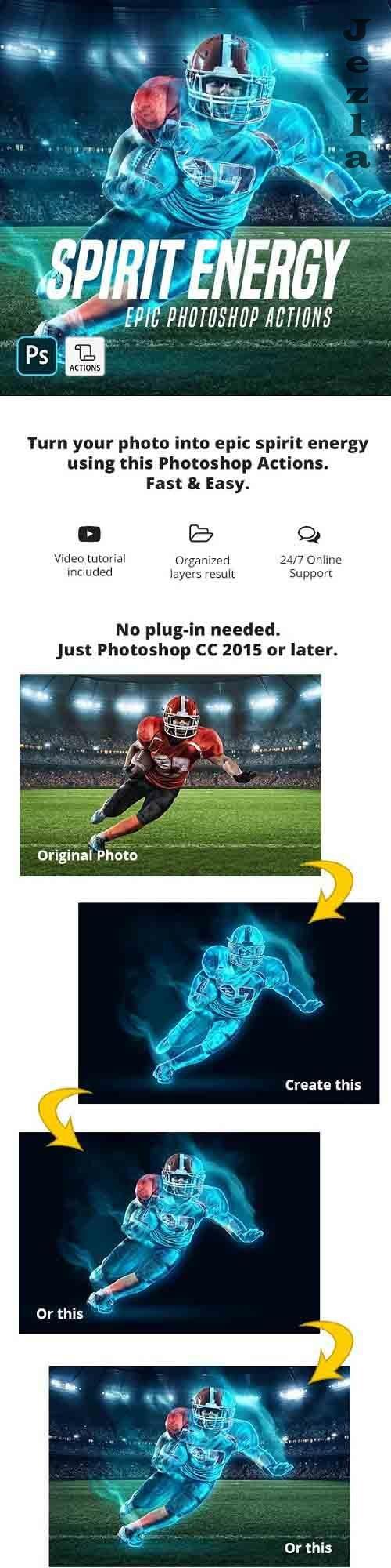 GraphicRiver - Spirit Energy Photoshop Action 29050788