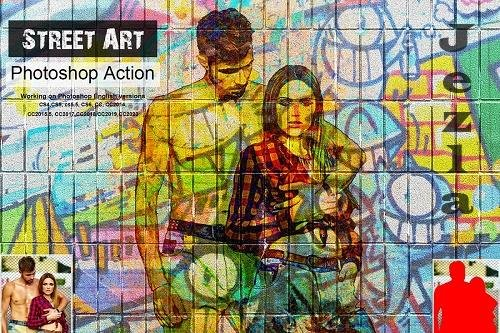 CreativeMarket - Street Art Photoshop Action 5351422