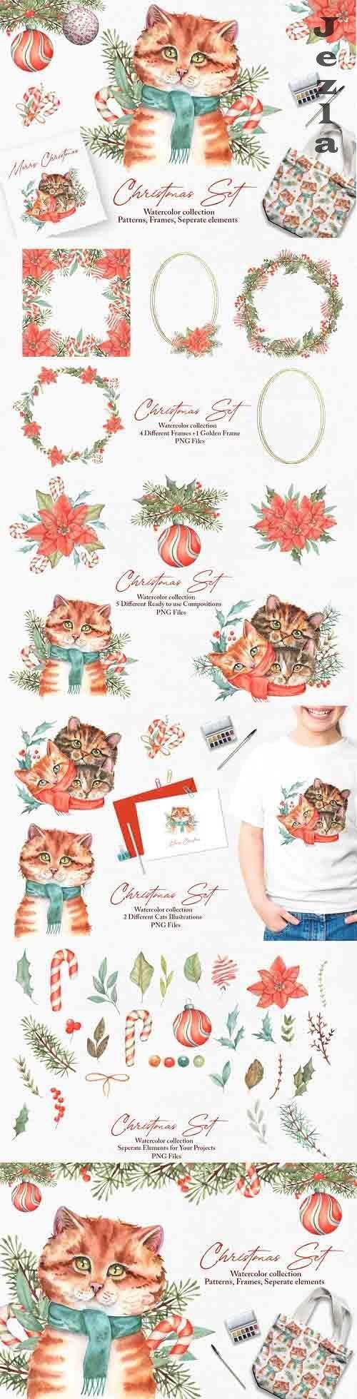 Watercolor Christmas Set - 1038577