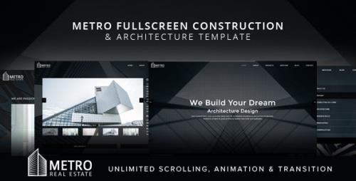 ThemeForest - Metro v1.0 - Fullscreen Construction and Architecture Template (Update: 18 August 17) - 20080742