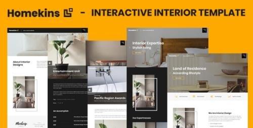 ThemeForest - Homekins v1.0 - Interactive Interior Template - 29331602