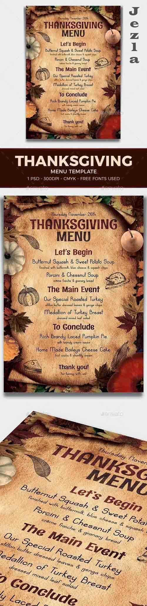 Thanksgiving Menu Template V2 - 17774429 - 887796