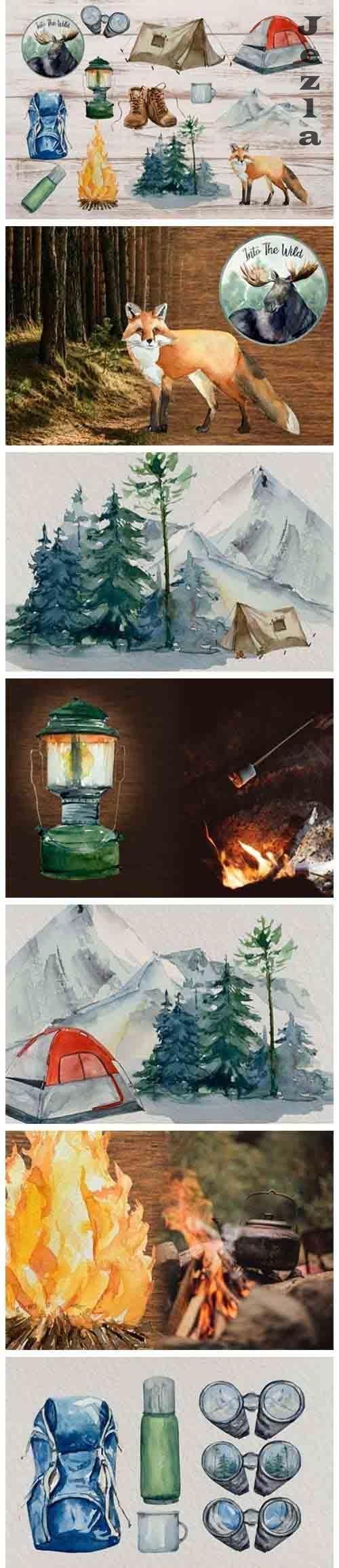 Adventure Clip Arts - Watercolor Set - 5611550