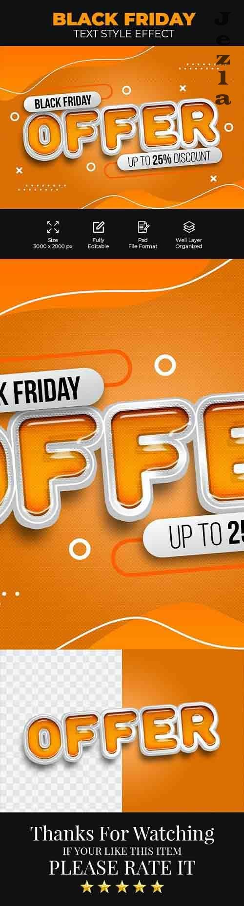 GraphicRiver - Black Friday Offer Psd Text Style Effect 28586993