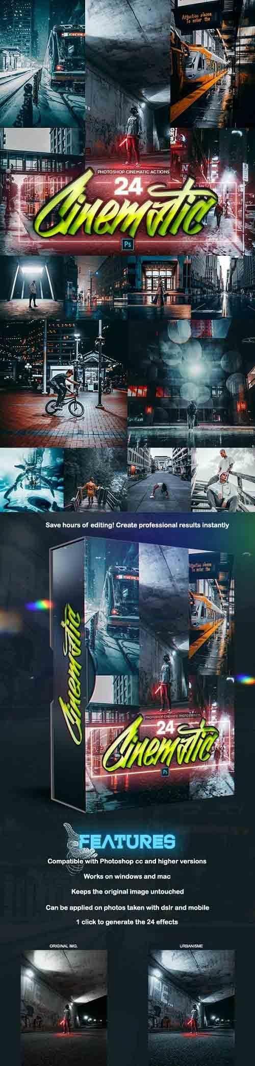 GraphicRiver - 24 Cinematic PRO Photoshop Actions 28734799