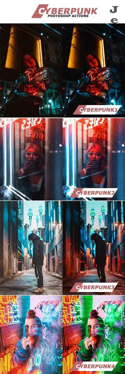 GraphicRiver - Cyberpunk Photoshop Actions 28533023