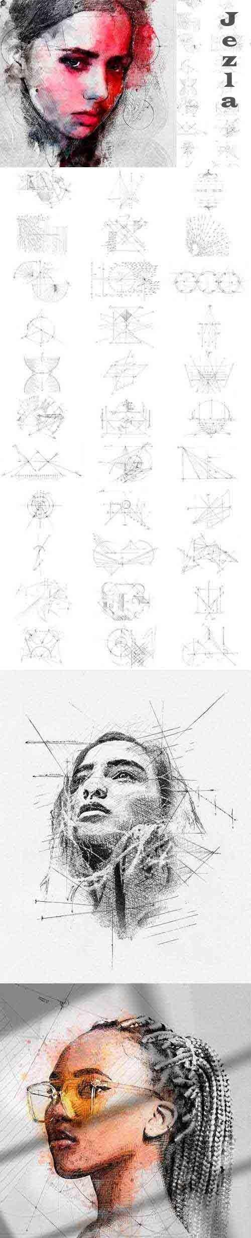 32 Technical PS Drawing Brushes 4933592