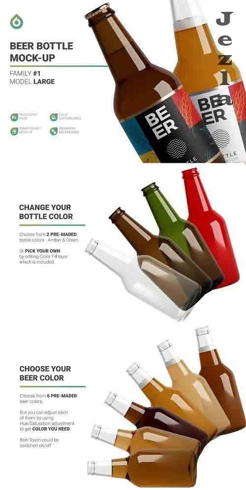 CreativeMarket - Beer Bottle Mockup 5013899