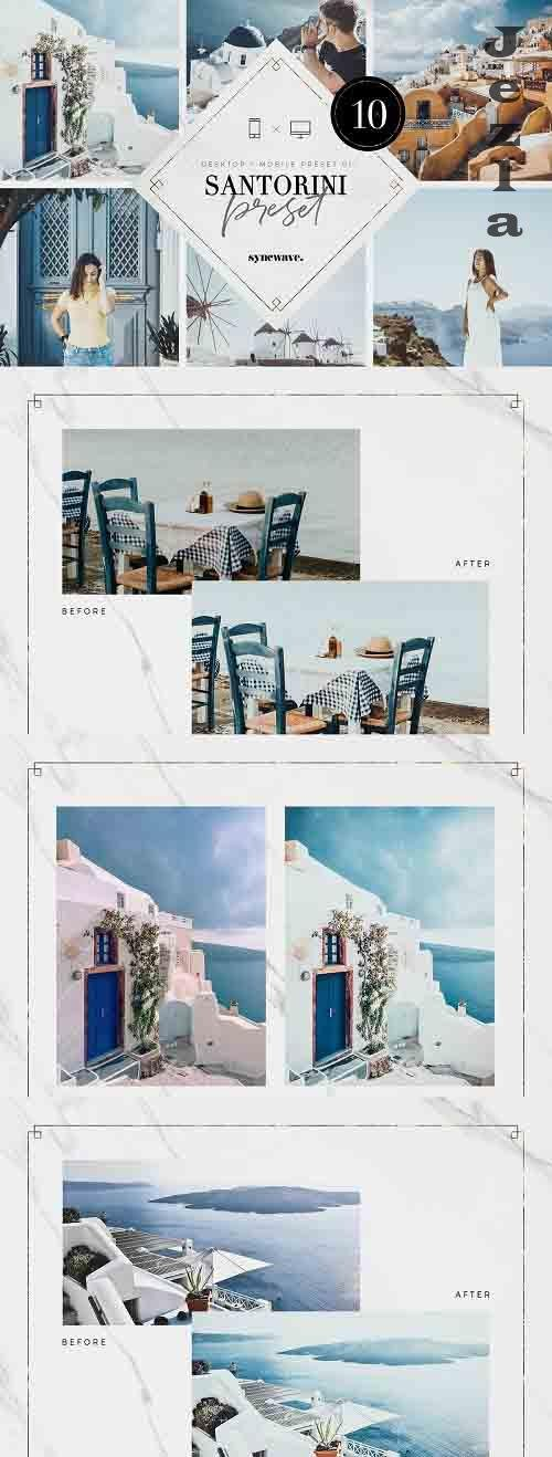 CreativeMarket - Santorini Lightroom Presets Bundle 5251203