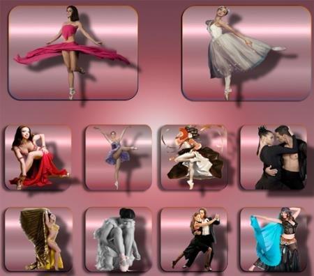 Png клипарты для фоторамки - Прекрасные танцовщицы