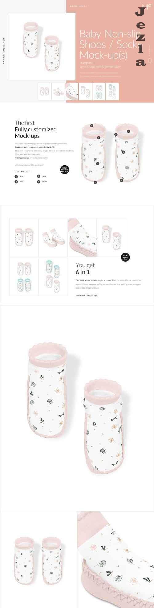 CreativeMarket - Baby Non-slip Shoes / Socks Mock-ups 4548189