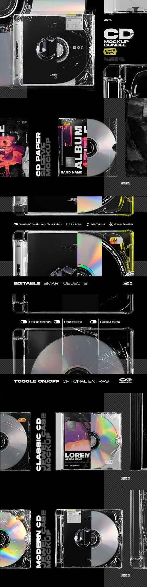 CreativeMarket - CD Mockup Bundle 5485024