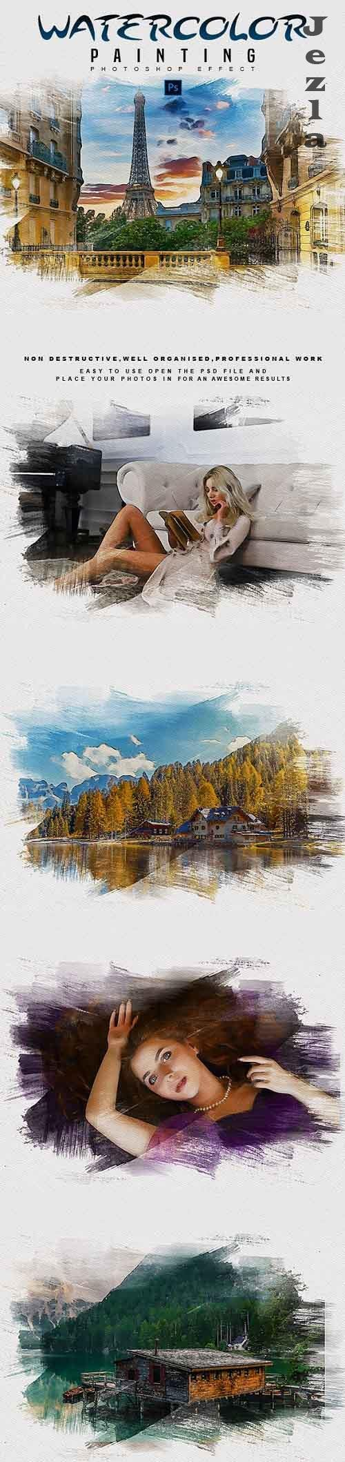 GraphicRiver - Watercolor Painting - PHSP Effect 28936851
