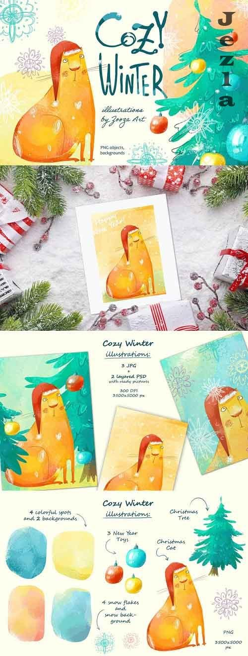 Cozy Winter illustrations - 5613164