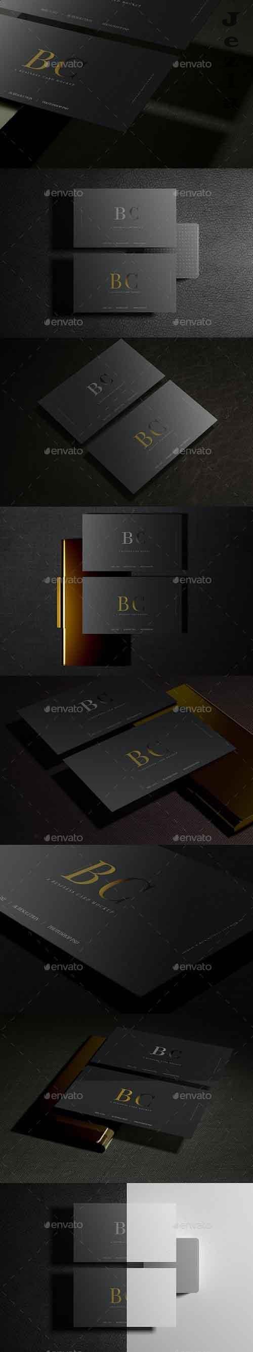 GraphicRiver - Dark Business Card Mockups 29316158