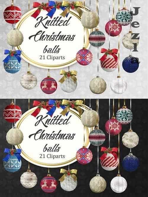 Knitted Christmas Baubles - 1046660