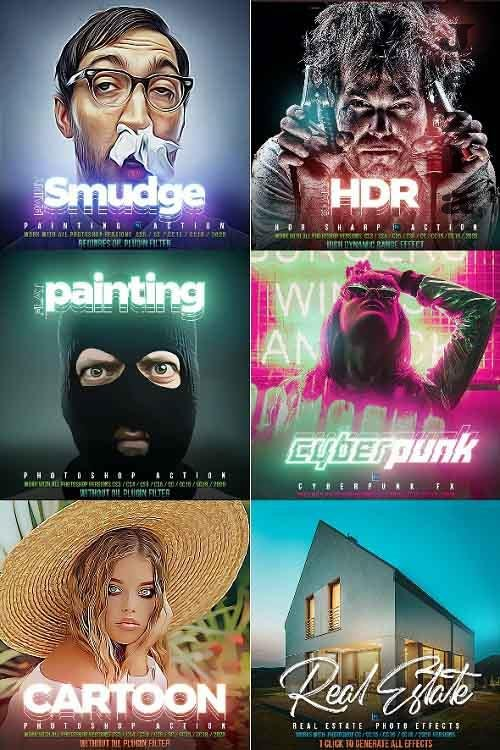 GraphicRiver - PRO 6 Photoshop Actions Bundle 29343736