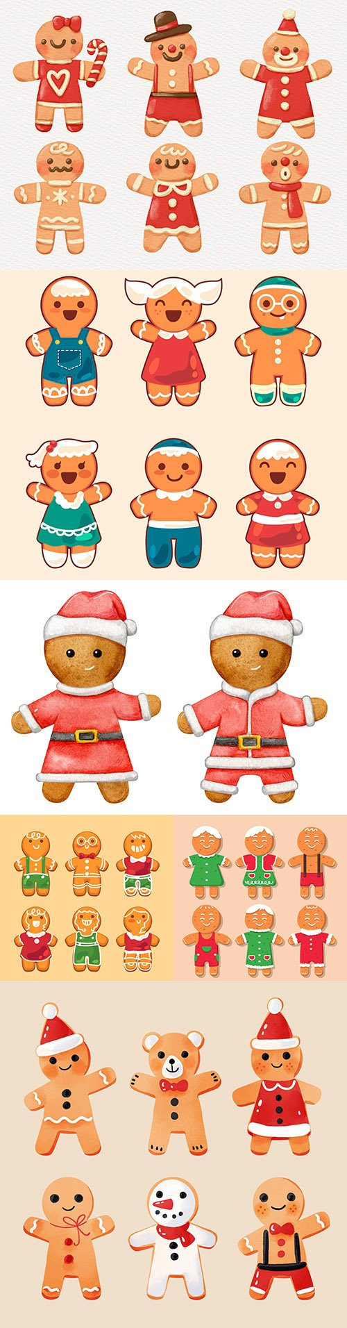 Christmas baking decorative gingerbread man flat design