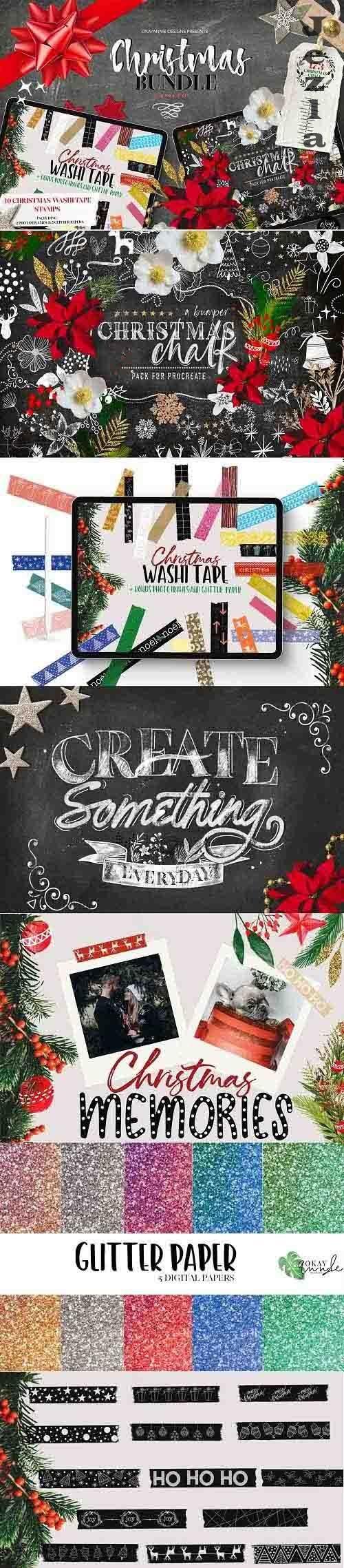 Christmas Procreate Brushes Bundle - 5623554