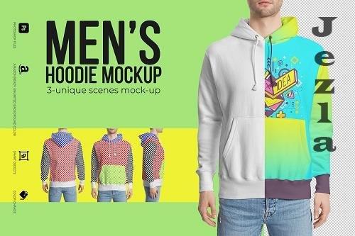 Men's Hoodie Mockup - 3649972