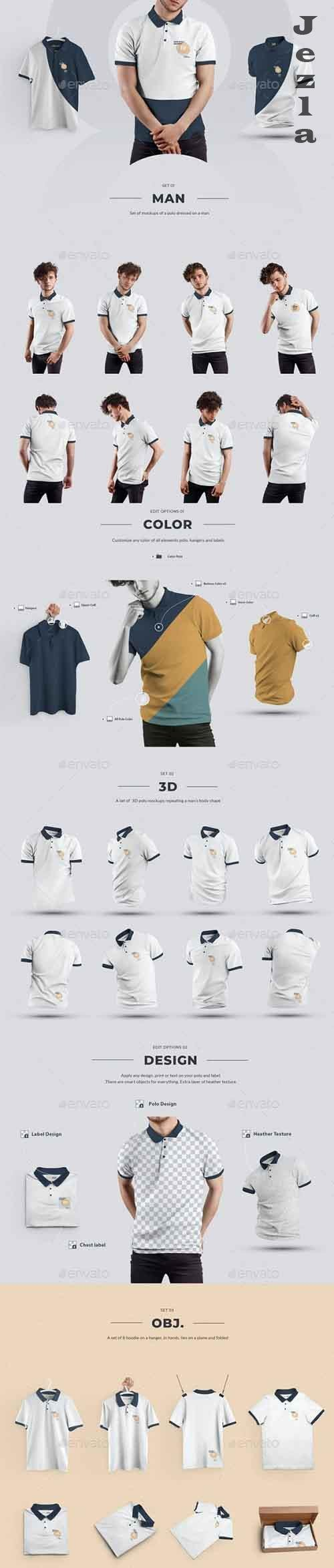 GraphicRiver - 24 Polo Men Mockup - Man/3D/Objects ( Collection #4 ) 29362775