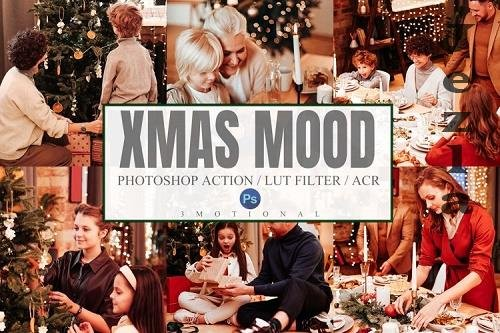 10 Xmas Mood Photoshop Actions ACR LUT Presets - 1051442