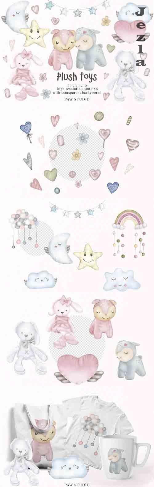 Plush Toys Animals Holiday Birthday Clipart Valentines Day - 1051158