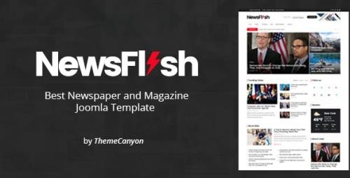 ThemeForest - NewsFlash v1.2 - Joomla News & Magazine Template (Update: 28 February 20) - 21620225