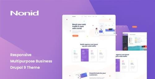 ThemeForest - Nonid v1.0 - Responsive Multipurpose Business Drupal 9 Theme (Update: 19 August 20) - 28141630