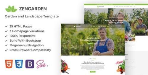 ThemeForest - Zen Garden v1.1 - Garden and Landscape HTML Template - 19248513