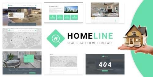 ThemeForest - Homeline v1.0 - Modern Unique Real Estate Template - 20465077