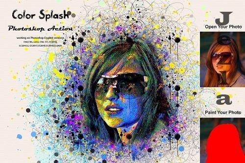 CreativeMarket - Color Splash Photoshop Action 5390030
