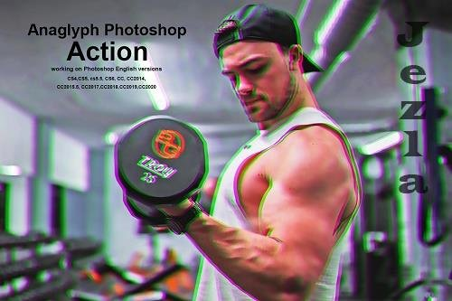 CreativeMarket - Anaglyph Photoshop Action 5394790
