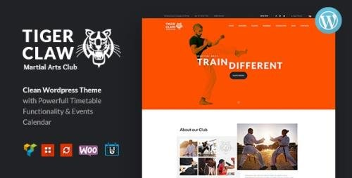 ThemeForest - Tiger Claw v1.1.2 - Martial Arts School and Fitness Center WordPress Theme - 20371073