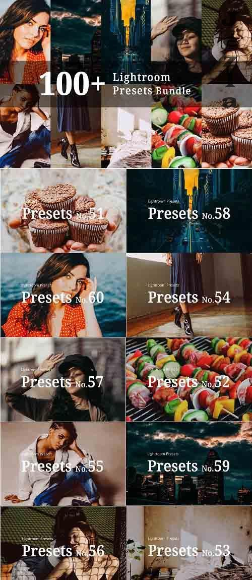CreativeMarket - 100+ Lightroom Presets Bundle 5363530