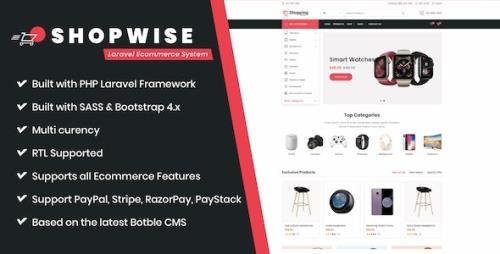 CodeCanyon - Shopwise v1.0.4 - Laravel Ecommerce System - 28855605
