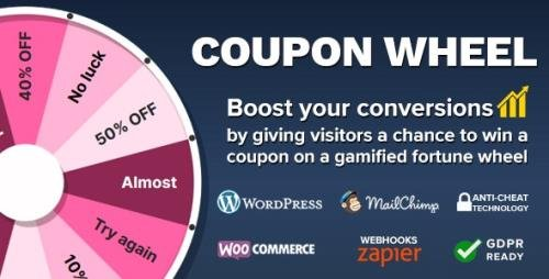 CodeCanyon - Coupon Wheel For WooCommerce and WordPress v3.3.6 - 20949540