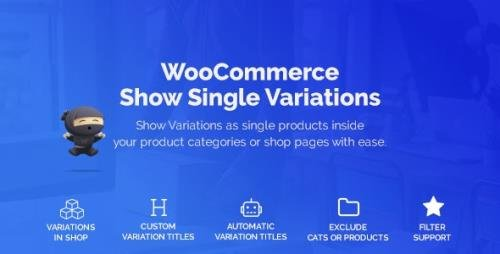 CodeCanyon - WooCommerce Show Variations as Single Products v1.3.2 - 25330620