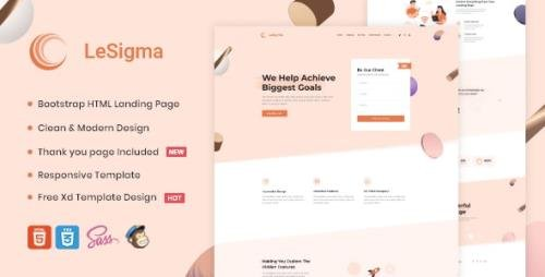 ThemeForest - LeSigma v1.1 - Isometric Startup HTML Landing Page (Update: 2 August 20) - 26504986