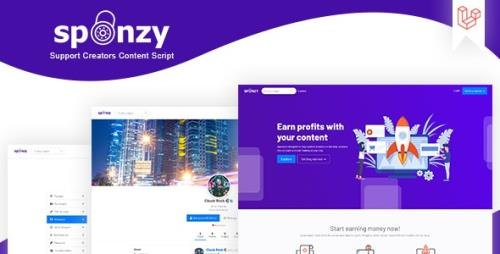 CodeCanyon - Sponzy v1.5 - Support Creators Content Script - 28416726