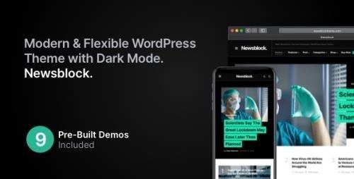 ThemeForest - Newsblock v1.0.9 - News & Magazine WordPress Theme with Dark Mode - 26821869 -