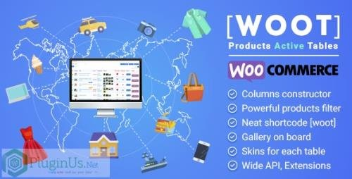 CodeCanyon - WOOT v2.0.2 - WooCommerce Products Tables Professional - 27928580