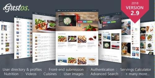 ThemeForest - Gustos v2.9.16 - Community-Driven Food Recipes with Front-end Submission System - 10408604