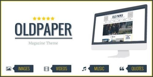 ThemeForest - OldPaper v1.7.0 - Ultimate Magazine & Blog Theme - 7431822