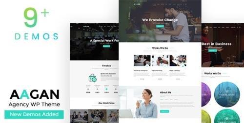 ThemeForest - Aagan v2.6 - Agency, Startup WordPress Theme - 22036400