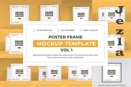 Poster Frame Mockup Template Bundle Vol 1 - 1053948