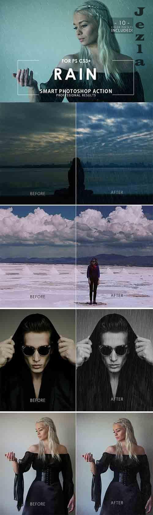 GraphicRiver - Rain Photoshop Action 28806032