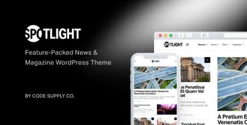 ThemeForest - Spotlight v1.6.3 - Feature-Packed News & Magazine WordPress Theme - 22560532 - NULLED
